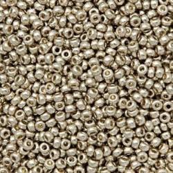 Miyuki Round Seed Beads  8/0  Duracoat Galvanized Silver  -  10 g- code 4201