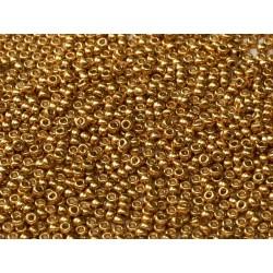 Miyuki Round Seed Beads  8/0  Duracoat Galvanized Gold -  10 g- code 4202