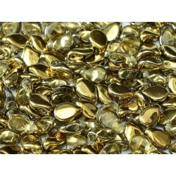 Pip Beads  5x7 mm  Crystal Amber  -  30 pcs