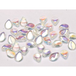 Perline Pip  5x7 mm Crystal AB  -  30 pz