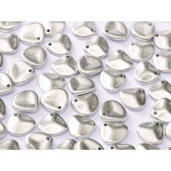 Perline Rose Petals  8x7 mm Aluminium Silver -  40 pz
