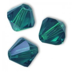 Bicono Swarovski 5328  4 mm Emerald - 40 pz