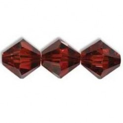 Bicono Swarovski 5328  4 mm Crystal Red Magma  - 40 pz