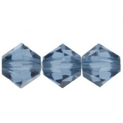 Bicono Swarovski 5328  6 mm Denim Blue - 10 pz