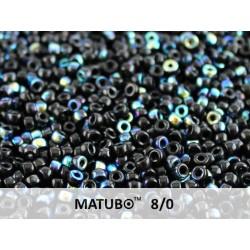 Perline Matubo  8/0  Jet  AB -  10 g