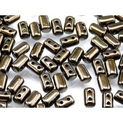 Perline Rulla  3x5 mm Jet  Copper  -  10 g