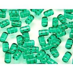 Perline Rulla  3x5 mm Emerald -  10 g