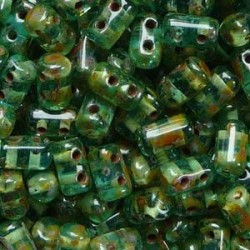 Perline Rulla  3x5 mm Aqua Travertin  -  10 g