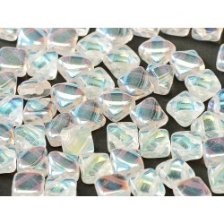 Silky Beads  6x6 mm  Crystal  AB -  30 pcs