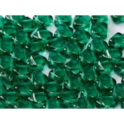 Perline Silky 6x6 mm  Emerald -  30 pz