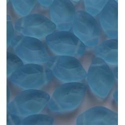 Perline Leaves 12x7 mm Aquamarine Mat -  20 pz
