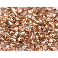 Tulip Petals  4x6 mm Crystal Capri Gold -  40 pcs