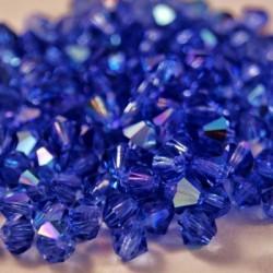 Bicono Cristallo Ceco  4 mm Sapphire AB - 30 pz
