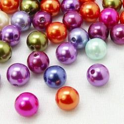 Perle Tonde  in Acrilico 6 mm Colori Misti  - 50  pz