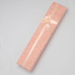 Scatola Cartone Rettangolare  per Collane o Bracciali 210x45x22 mm Rosa - 1 pz