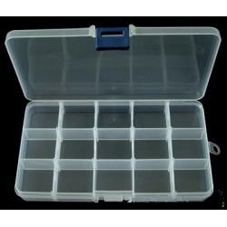 Transparent Plastic Beads Storage Container 10x17,5 cm  - 1 pc