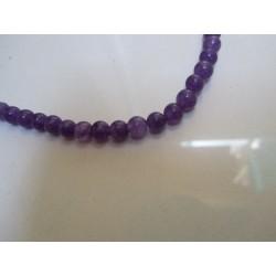 Jade Round Beads  Dyed Purple  6 mm - 10 pcs