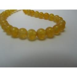 Jade Round Beads  Dyed Dark Yellow  6 mm - 10 pcs