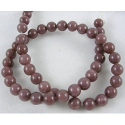 Purple  Aventurine Round  Beads  6 mm Coconut Brown -  10 pcs