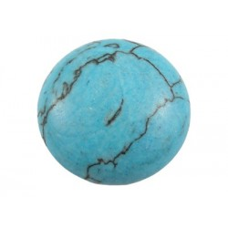 Synthetic Turquoise Round Cabochon  26  mm  -  1 pc