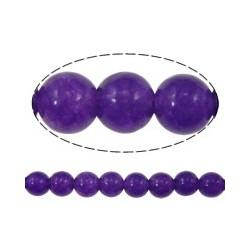 Giada Colorata Viola Tonda Liscia  4 mm  - 15 pz