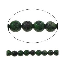 Ruby in Zoisite Round Beads  8 mm -  1 Strand about 38-40 cm long