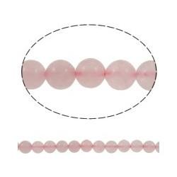 Rose Quartz Round Beads 8mm - 8 pcs