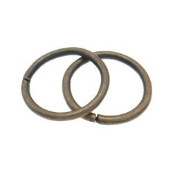 Openable Jump Ring   7x0,9  mm,  Antique Copper Color Plated  - 50 pcs