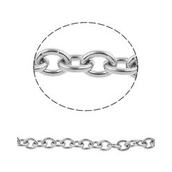 Stainless Steel Oval Chain   3x2x0,6 mm