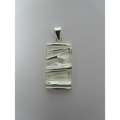 925 Sterling Silver Pendant  Rectangular 30x15 mm