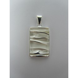 925 Sterling Silver Pendant  Rectangular 28x17 mm