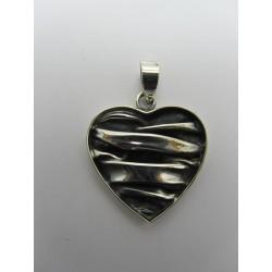 925 Sterling Silver Pendant  Heart 28x26 mm