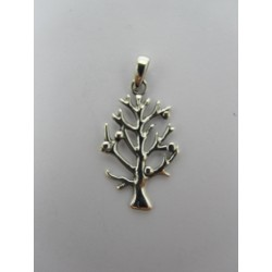 925 Sterling Silver Pendant Small Tree  24x14  mm