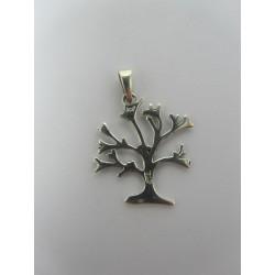 925 Sterling Silver Pendant Medium Tree  25x21  mm