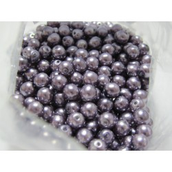 Glass Pearls  6 mm Lilac - 25 pcs