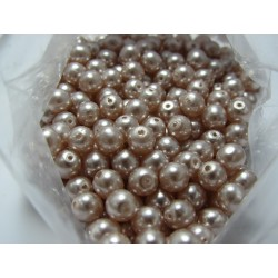 Glass Pearls  6 mm Light Pink - 25 pcs