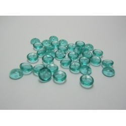 PIggy Beads  4x8 mm  Transparent Light Teal -  30 pcs