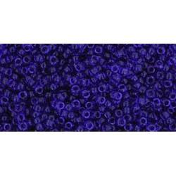 Toho Round 15/0  Transparent Cobalt
