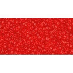 Rocailles Toho 15/0 Transparent Siam Ruby