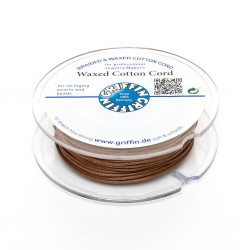 Waxed Cotton Cord Griffin Light  Brown 1 mm