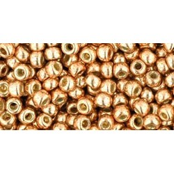 Rocailles Toho 8/0 Permanent Finish Galvanized Rose Gold