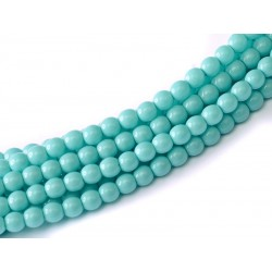Glass Pearls  3 mm  Turquoise    - 50 pcs
