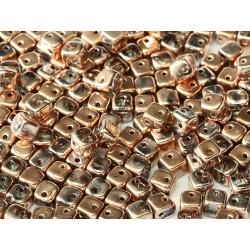 Crisscross Cubes 4 mm Crystal Capri Gold Full  -  20  pcs