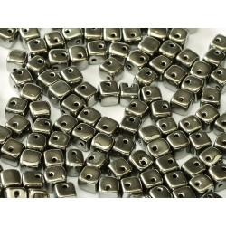 Crisscross Cubes 4 mm Crystal Full  Chrome -  20  pcs