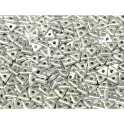 Perline Tri-Bead  4 mm Aluminium Silver  - 5  g