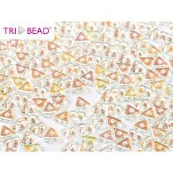 Tri- Bead  4 mm  Crystal AB - 5  g