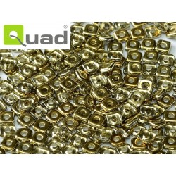 Quad® Bead 4 mm Crystal Amber - 5  g