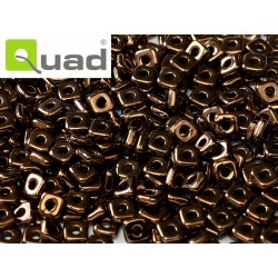 Quad® Bead 4 mm Jet Bronze  - 5  g