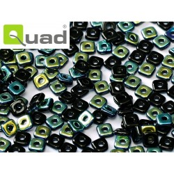 Quad® Bead 4 mm Jet AB  - 5  g