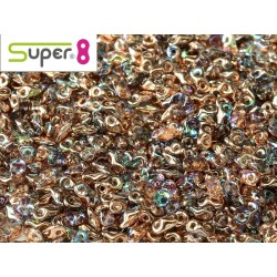 Super8® 2,2 x 4,7 mm Crystal Copper Rainbow  -  5  g
